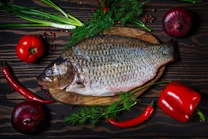 Fish with fresh vegetables