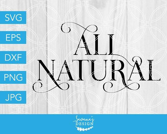 All Natural SVG Cut File