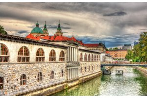 Embankment in Ljubljana - Slovenia