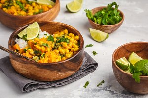 Vegan Sweet Potato Chickpea curry