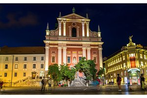 Franciscan Church of the Annunciation in Ljubljana, Slovenia