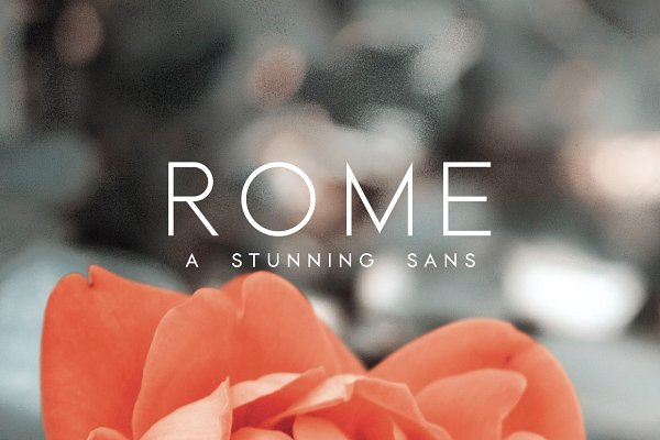 Rome   A Stunning Sans Serif