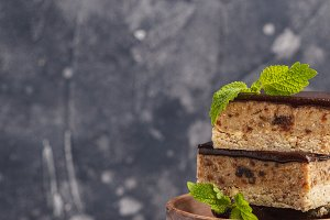 Raw vegan cake with chocolate