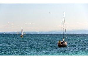 Yachts on Konstanz lake, Germany