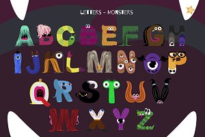 Alphabet with Monsters (clipart)