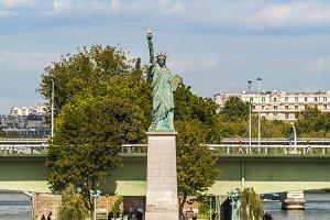 Liberty Statue copy in Paris, France