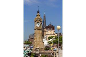 Quay of Rhine river in Dusseldorf, Germany