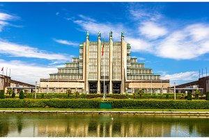Exhibition halls in Brussels Expo, Belgium