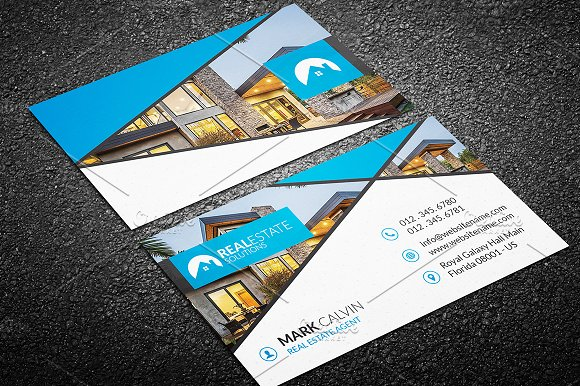 Real estate business card 46 business card templates creative market accmission Images
