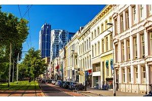 Mauritsweg street in Rotterdam - the Netherlands