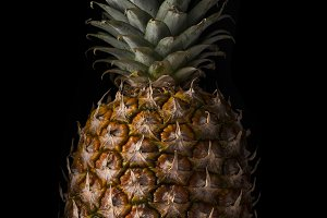 Pineapple on black Background