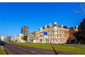 Buildings on Westzeedijk street in Rotterdam - the Netherlands