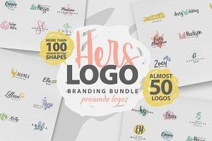 HERS LOGO BUNDLE (50 premade logos)