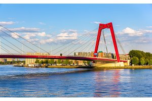 The Willemsbrug or Williams Bridge in Rotterdam - Netherlands
