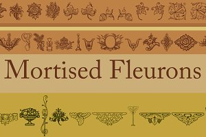 Mortised Fleurons