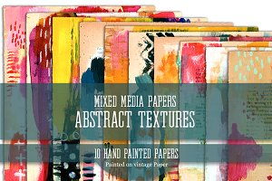 Mixed Media Papers Abstract Textures