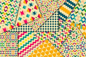Rainbow geometric retro paper