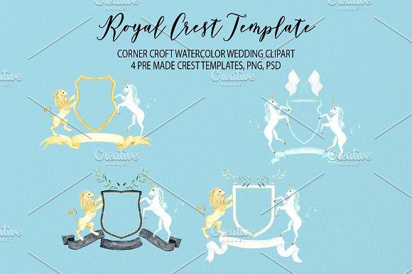 watercolor royal crest template invitation templates creative market