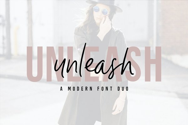 Sans Serif Fonts: Big Cat Creative - Unleash | Edgy Font Duo