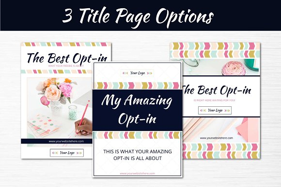 Opt-in Freebie Templates Color Pop