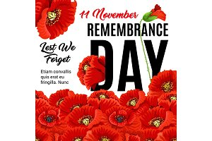 Remembrance day creative poster