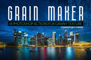 14 Photoshop Grain Texture Actions