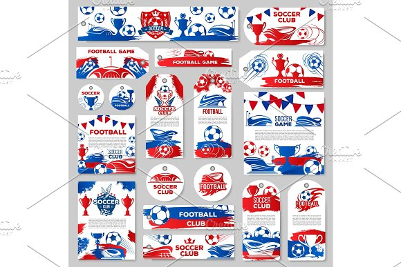 Soccer Sport Club Tag Or Football Game Match Label