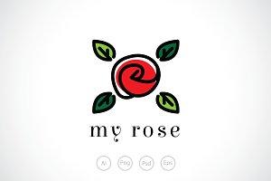 Blossom Rose Logo Template