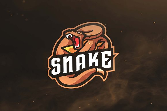 snake sport and esports logo logo templates creative market