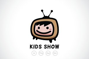 Kids Television Logo Template