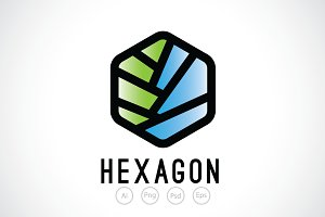 Layer Hexagon Logo Template
