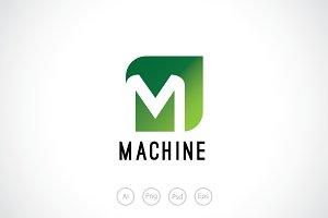 Letter M Liquid Logo Template