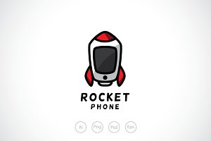 Rocket Phone Logo Template