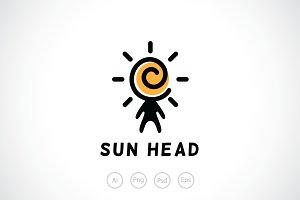 Sun Head People Logo Template
