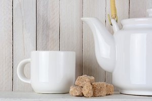 Natural Sugar Cubes and Tea