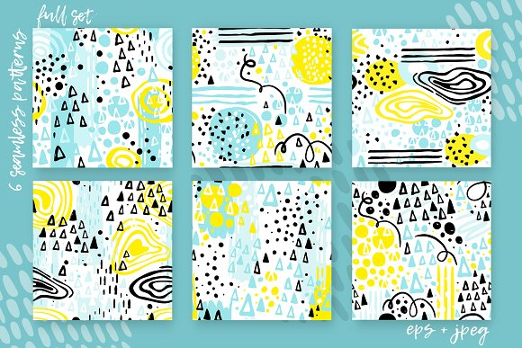6 Abstract Seamless Patterns in Patterns - product preview 4