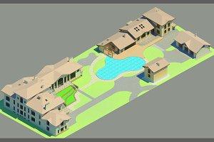 3D render master plan