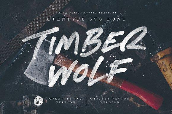 Timber Wolf Opentype SVG Font