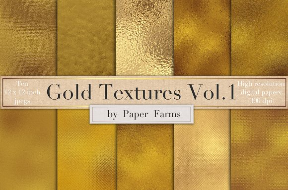 Gold Foil Textures