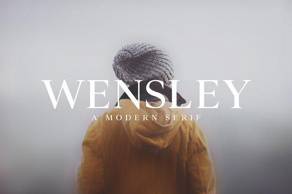 Serif Fonts: Creativetacos - Wensley Modern Serif Font Family