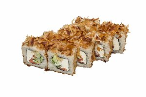 Rolls with shavings of tuna.