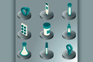 Artificial insemination icon set