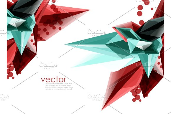 Color Glass Crystals On White Background Geometric Abstract Composition With Glass Gemstones And Copyspace Background Template