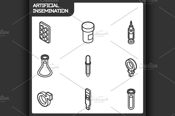 Artificial Insemination Icons