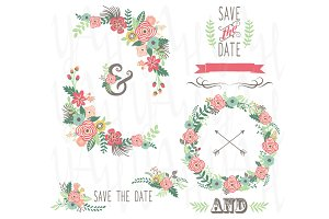 Wedding Floral Wreath Set
