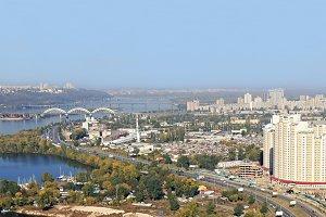Aerial Kiev view
