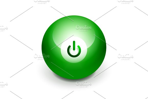 Techno Futuristic Start Power Button