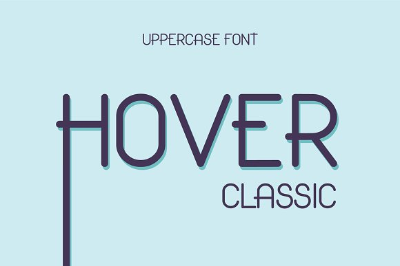 Hover Classic Uppercase Font