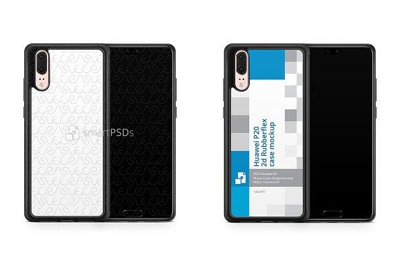 Huawei P20 2d RubberFlex Case