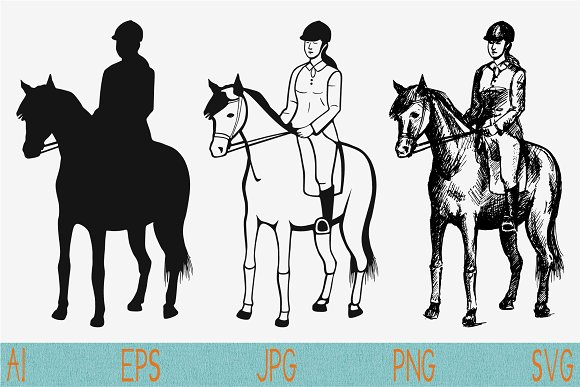 Horseback Riding Horse Svg Png Jpeg